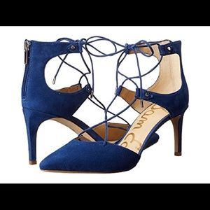 Sam Edelman Blue Suede Shoe